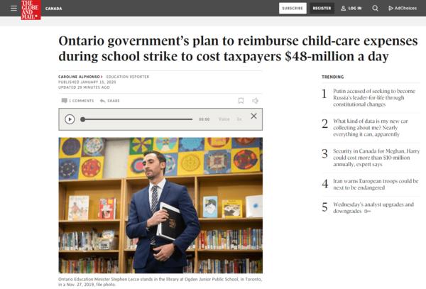 注意!下周一多伦多小学停课,政府每日补贴将超四千万