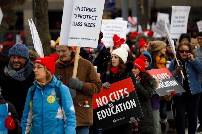 周一多伦多、约克区小学罢工,安省中小学轮流罢工一周