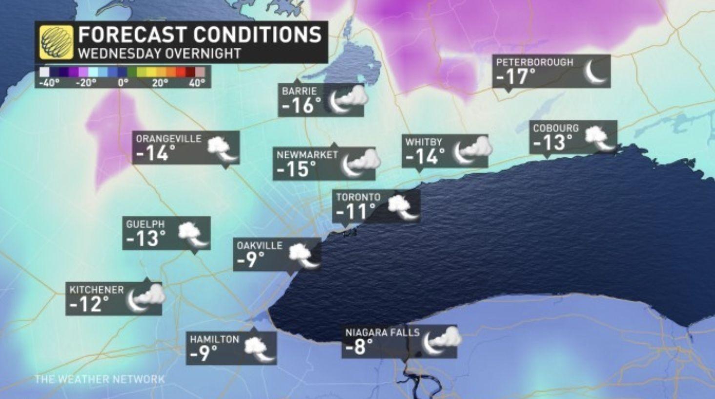 多伦多和GTA居民本周末,将迎来20厘米大雪