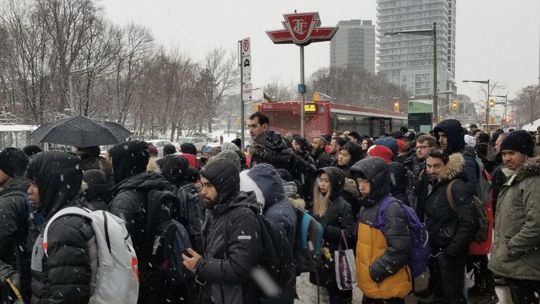 交通大混乱!由于脱轨,TTC1号线部分停运,超百辆巴士派出应急