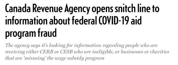 加拿大税务局开通举报热线 鼓励民众举报补助冒领
